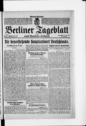 Berliner Tageblatt und Handels-Zeitung vom 17.05.1919