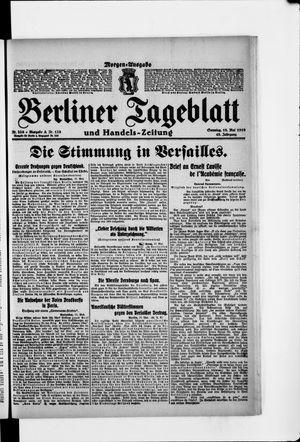 Berliner Tageblatt und Handels-Zeitung vom 18.05.1919