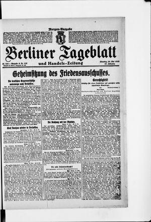 Berliner Tageblatt und Handels-Zeitung vom 20.05.1919