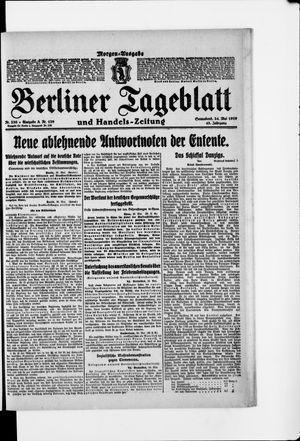 Berliner Tageblatt und Handels-Zeitung vom 24.05.1919