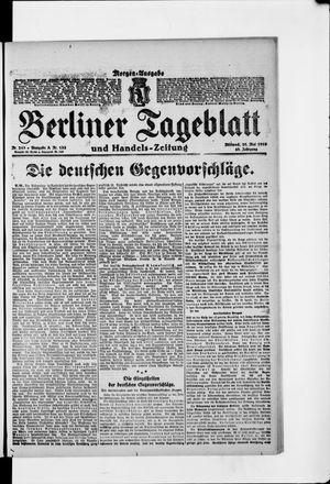 Berliner Tageblatt und Handels-Zeitung vom 28.05.1919