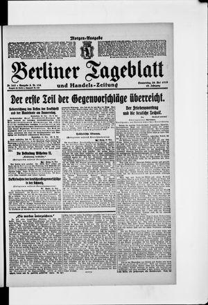 Berliner Tageblatt und Handels-Zeitung vom 29.05.1919