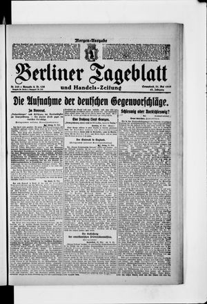 Berliner Tageblatt und Handels-Zeitung vom 31.05.1919