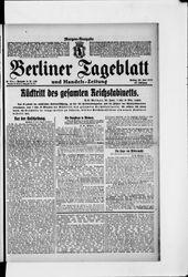 Berliner Tageblatt und Handels-Zeitung