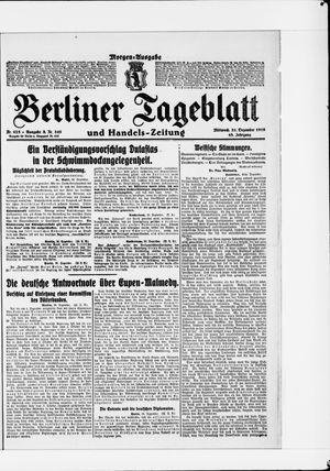 Berliner Tageblatt und Handels-Zeitung vom 31.12.1919