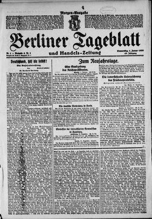 Berliner Tageblatt und Handels-Zeitung vom 01.01.1920