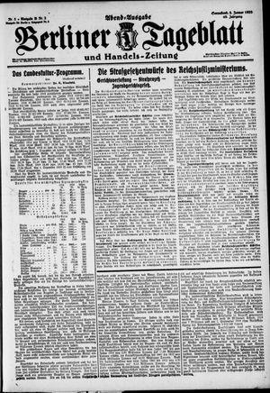 Berliner Tageblatt und Handels-Zeitung vom 03.01.1920