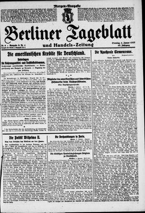 Berliner Tageblatt und Handels-Zeitung vom 04.01.1920