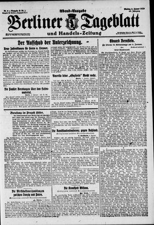 Berliner Tageblatt und Handels-Zeitung vom 05.01.1920