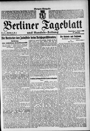 Berliner Tageblatt und Handels-Zeitung vom 08.01.1920
