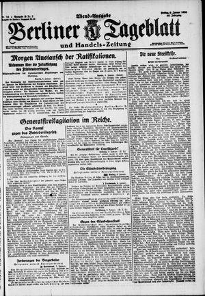 Berliner Tageblatt und Handels-Zeitung on Jan 9, 1920