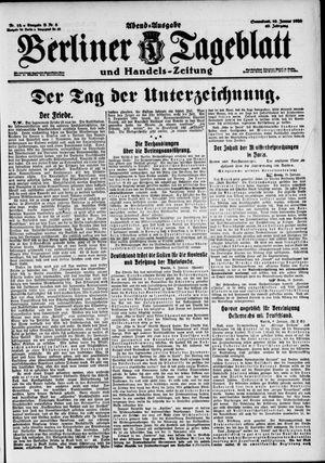 Berliner Tageblatt und Handels-Zeitung on Jan 10, 1920