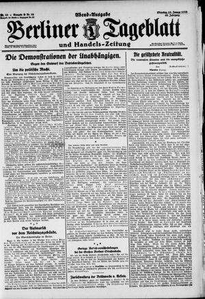 Berliner Tageblatt und Handels-Zeitung vom 13.01.1920
