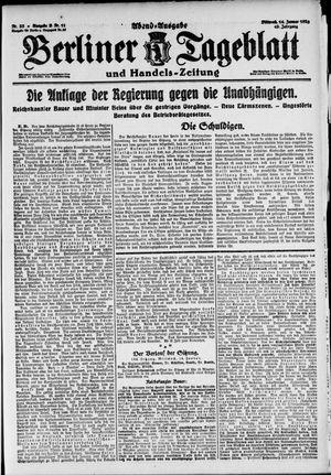Berliner Tageblatt und Handels-Zeitung vom 14.01.1920
