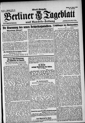 Berliner Tageblatt und Handels-Zeitung vom 16.01.1920