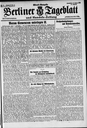 Berliner Tageblatt und Handels-Zeitung vom 17.01.1920
