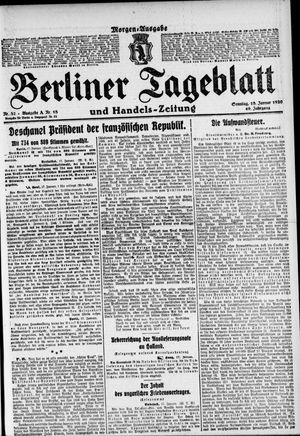Berliner Tageblatt und Handels-Zeitung vom 18.01.1920