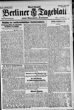 Berliner Tageblatt und Handels-Zeitung vom 21.01.1920