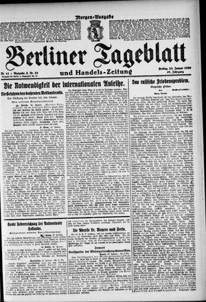 Berliner Tageblatt und Handels-Zeitung vom 23.01.1920