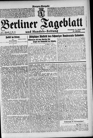 Berliner Tageblatt und Handels-Zeitung vom 24.01.1920