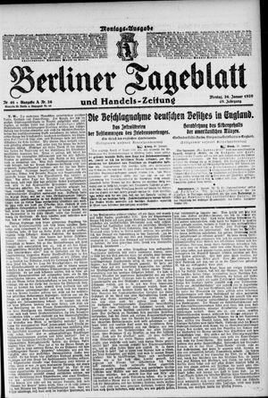 Berliner Tageblatt und Handels-Zeitung vom 26.01.1920