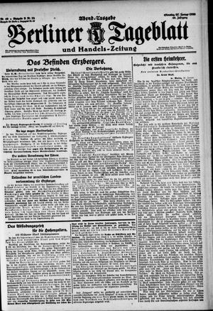 Berliner Tageblatt und Handels-Zeitung vom 27.01.1920
