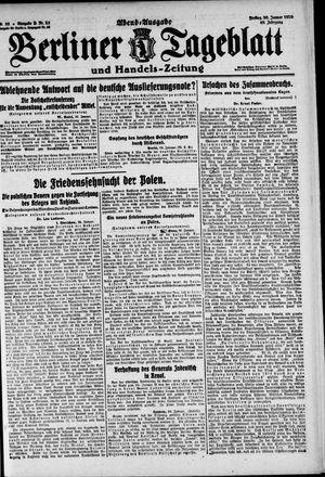 Berliner Tageblatt und Handels-Zeitung vom 30.01.1920