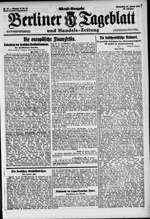 Berliner Tageblatt und Handels-Zeitung vom 31.01.1920