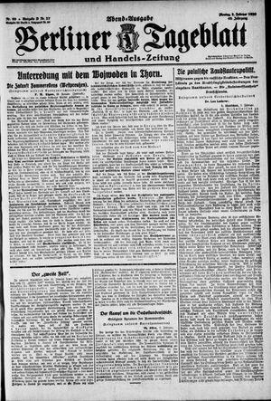 Berliner Tageblatt und Handels-Zeitung on Feb 2, 1920