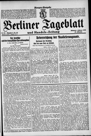 Berliner Tageblatt und Handels-Zeitung vom 04.02.1920
