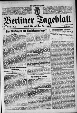 Berliner Tageblatt und Handels-Zeitung vom 08.02.1920