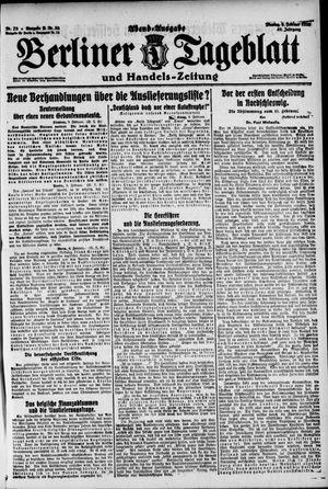 Berliner Tageblatt und Handels-Zeitung vom 09.02.1920