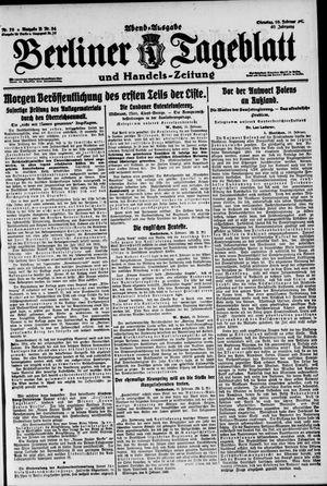 Berliner Tageblatt und Handels-Zeitung vom 10.02.1920