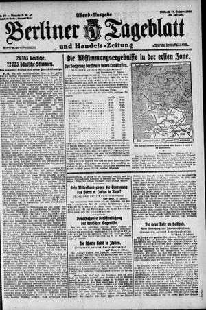 Berliner Tageblatt und Handels-Zeitung vom 11.02.1920