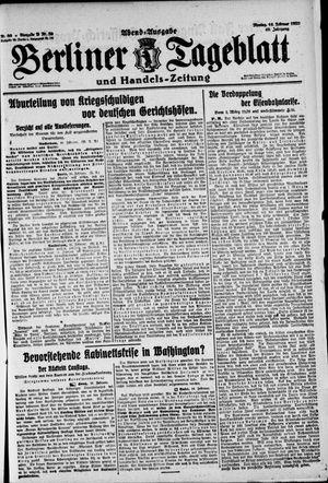 Berliner Tageblatt und Handels-Zeitung vom 16.02.1920