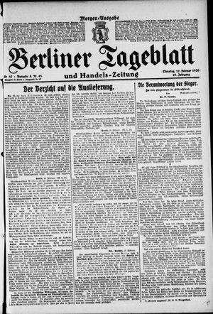 Berliner Tageblatt und Handels-Zeitung vom 17.02.1920