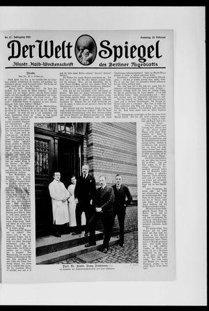 Berliner Tageblatt und Handels-Zeitung vom 22.02.1920