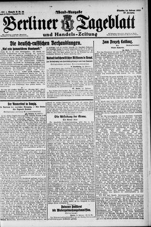 Berliner Tageblatt und Handels-Zeitung vom 24.02.1920
