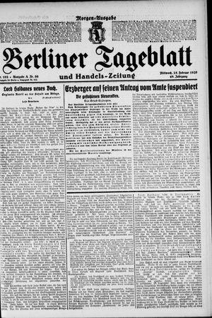 Berliner Tageblatt und Handels-Zeitung vom 25.02.1920