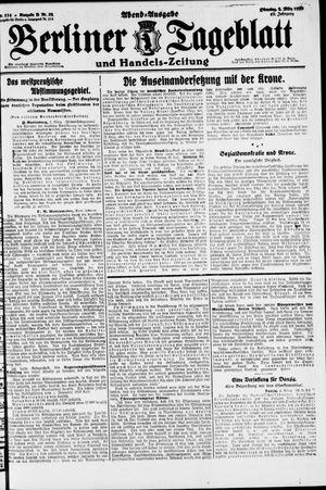 Berliner Tageblatt und Handels-Zeitung vom 02.03.1920