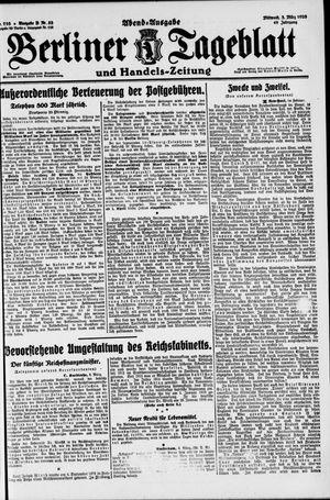 Berliner Tageblatt und Handels-Zeitung vom 03.03.1920