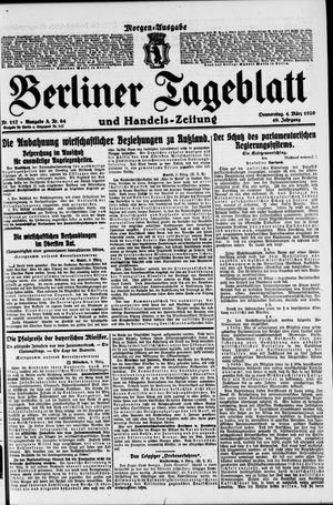 Berliner Tageblatt und Handels-Zeitung vom 04.03.1920