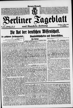 Berliner Tageblatt und Handels-Zeitung vom 07.03.1920