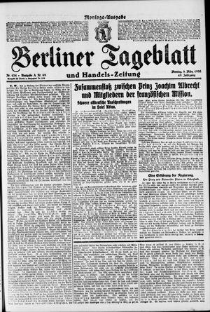Berliner Tageblatt und Handels-Zeitung vom 08.03.1920