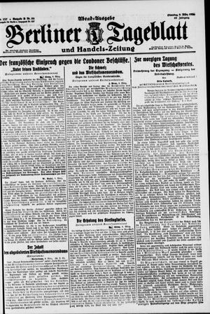 Berliner Tageblatt und Handels-Zeitung vom 09.03.1920