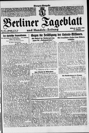 Berliner Tageblatt und Handels-Zeitung vom 10.03.1920