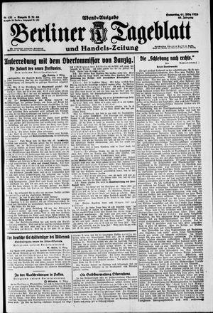 Berliner Tageblatt und Handels-Zeitung vom 11.03.1920