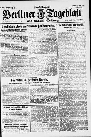 Berliner Tageblatt und Handels-Zeitung vom 12.03.1920