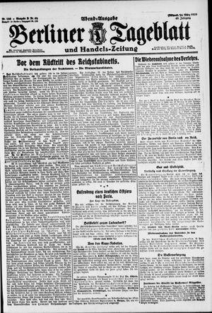 Berliner Tageblatt und Handels-Zeitung vom 24.03.1920