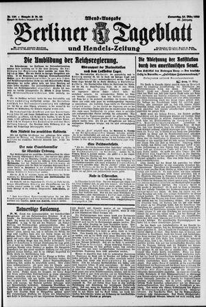Berliner Tageblatt und Handels-Zeitung vom 25.03.1920